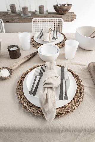 Natural linen napkin set of 2