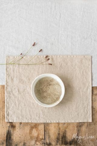 Natural linen placemat set of 2