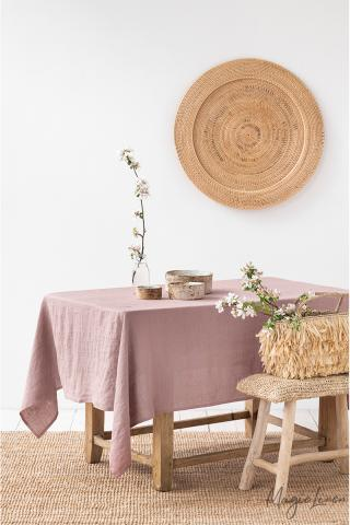 Woodrose Linen tablecloth