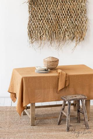 Tan Linen tablecloth