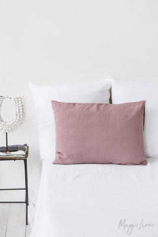 Woodrose linen pillowcase