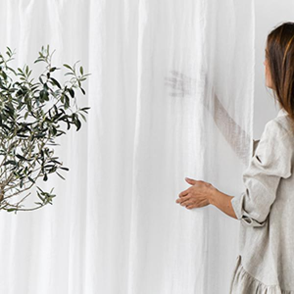 How to Remove Water Stains from Linen Curtains?