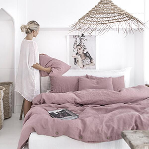 His & Hers Linen Bedding: Valentine's Day Gift Ideas
