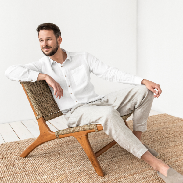 How to wear and pair men's linen shirt this summer?