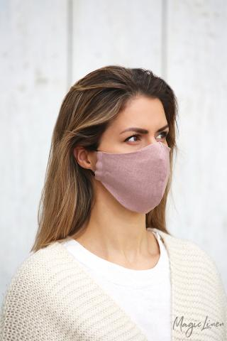 Woodrose Linen face mask