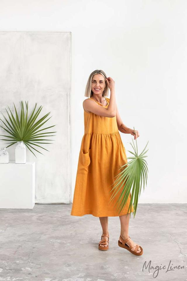 Relaxed fit linen dress MADISON