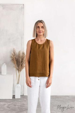 Sleeveless linen blouse TOULON