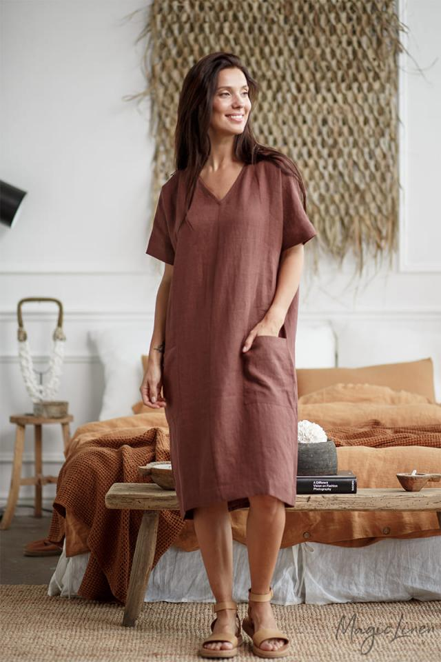 Loose-fit linen dress MEREDITH