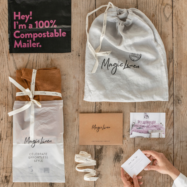 Introducing our sustainable packaging - it can be composted and reused!